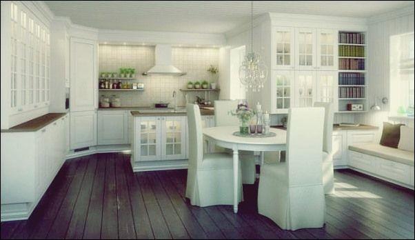 Ein Blick auf traditionelle zeitgenössische Küchen   Luxus-küche .