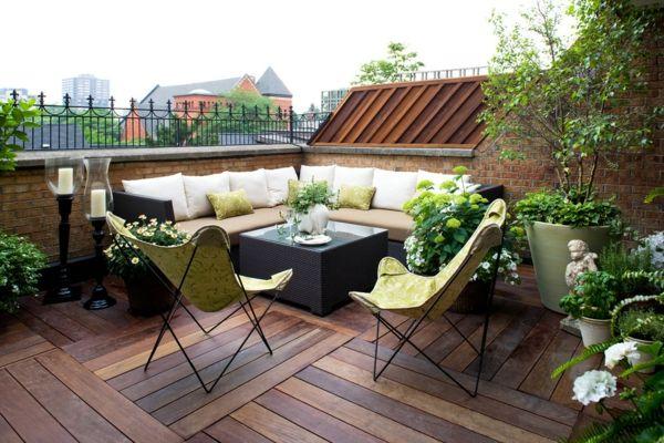 Balkonideen, die Ihnen inspirierende Gestaltungsideen geben .