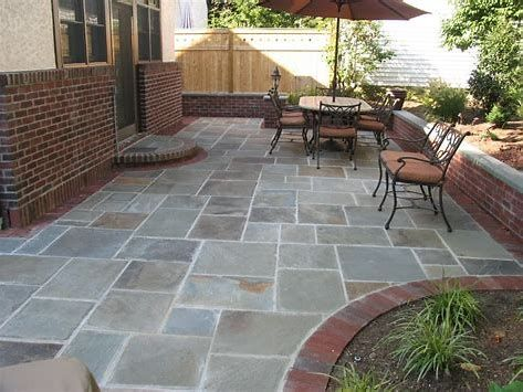 stone patio designs - Our patio area landscapes are stunning .