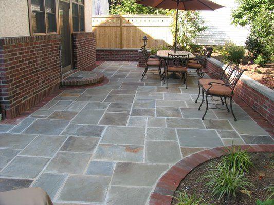 stain concrete patio + brick - Yahoo Image Search Results | Stone .