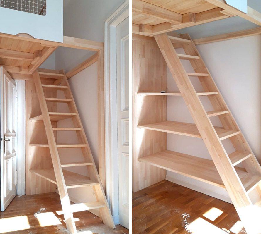 Treppenregale und Regal-Treppen
